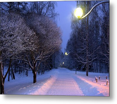 Metal Print featuring the photograph Winter Scene 4 by Sami Tiainen