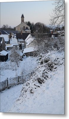 Winter Scene In North Wales Metal Print by Harry Robertson