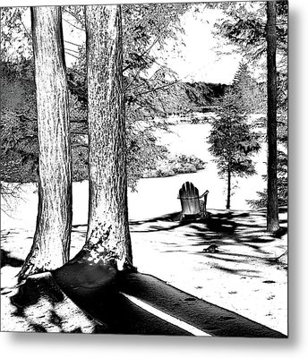Metal Print featuring the photograph Winter Shadows by David Patterson