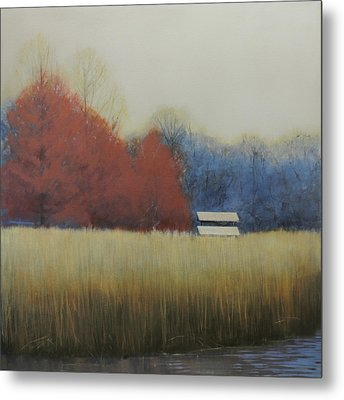 Winter Shed Metal Print by Cap Pannell