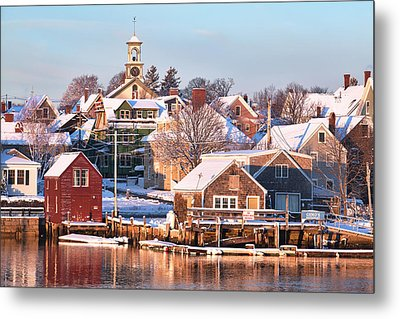 Winter Snowfall In Portsmouth Metal Print