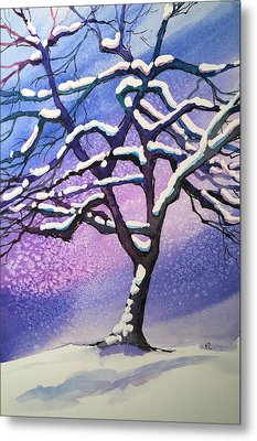 Winter Snowstorm Metal Print by Christine Camp