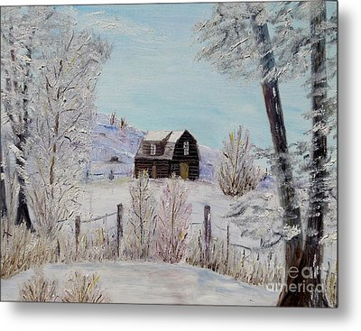 Metal Print featuring the painting Winter Solace by Marilyn  McNish