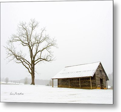 Metal Print featuring the photograph Winter Storm On The Farm by George Randy Bass