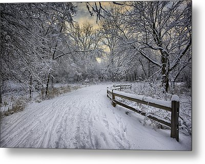 Metal Print featuring the photograph Winter Sunrise by Sebastian Musial