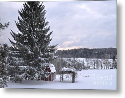 Metal Print featuring the photograph Winter Sunset - 1 by John Black