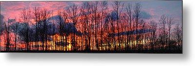 Winter Sunset Panorama Metal Print by Francesa Miller