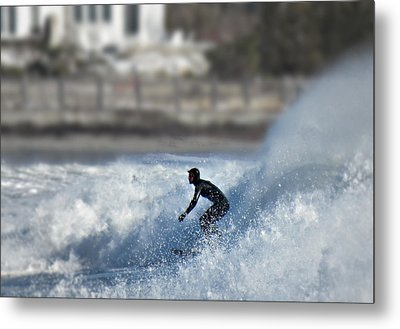 Winter Surf Metal Print by Thomas Stirling