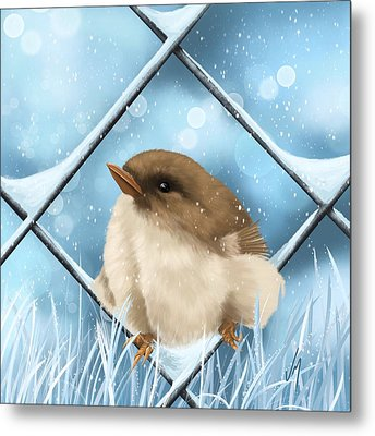Metal Print featuring the painting Winter Sweetness  by Veronica Minozzi