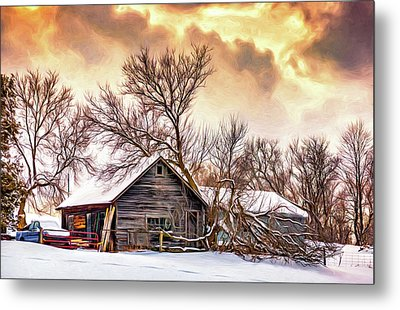 Winter Thoughts 2 - Paint Metal Print