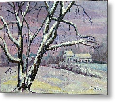 Winter Tree Metal Print by Saga Sabin