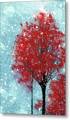 Winter Tree Wall Art Metal Print by Georgiana Romanovna