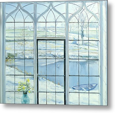 Winter Triptych Metal Print by Timothy Easton