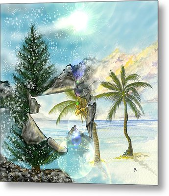 Metal Print featuring the digital art Winter Vacation by Darren Cannell