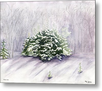 Metal Print featuring the painting Winter Wind by Melly Terpening