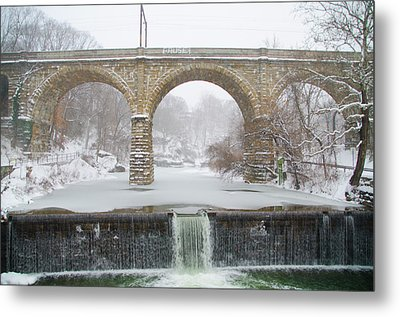 Winter Wonderland Along The Wissahickon Creek Metal Print by Bill Cannon