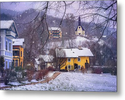 Winter Wonderland In Mondsee Austria  Metal Print by Carol Japp