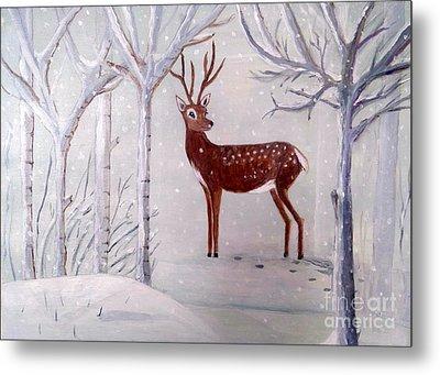 Winter Wonderland - Painting Metal Print