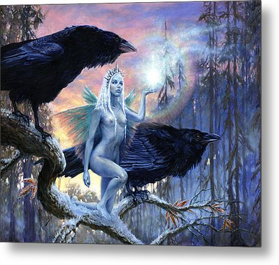 Winter's Dark Heralds Metal Print by Richard Hescox