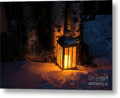 Metal Print featuring the photograph Winter's Eve by The Forests Edge Photography - Diane Sandoval