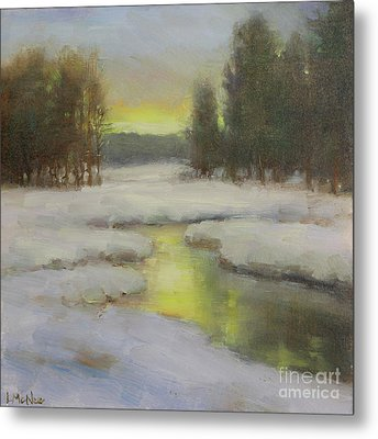 Winter's Glow Metal Print by Lori McNee