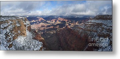 Winter's Grasp At The Grand Canyon Metal Print by Sandra Bronstein