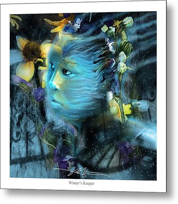 Winter's Keeper Of The Garden Metal Print by Bob Salo