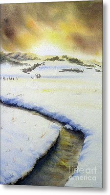 Winter's Light Metal Print