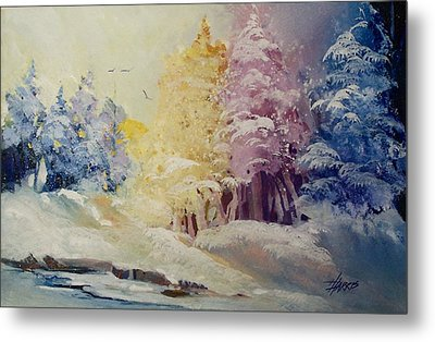 Metal Print featuring the painting Winter's Pride by Helen Harris