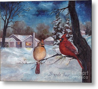 Metal Print featuring the painting Winters Serenity by Brenda Thour