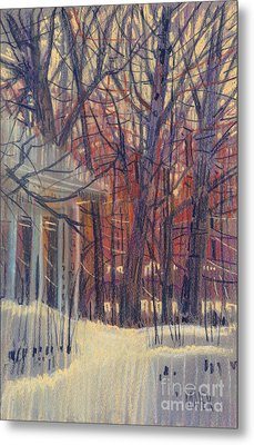 Winter's Snow Metal Print by Donald Maier