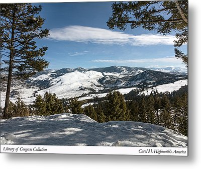 Wintertime View From Hellroaring Overlook In Yellowstone National Park Metal Print by Carol M Highsmith