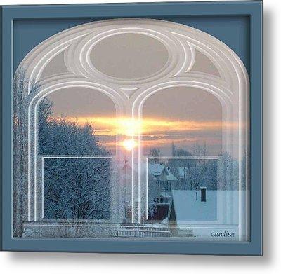 Winterview From My Window Metal Print by Carola Ann-Margret Forsberg