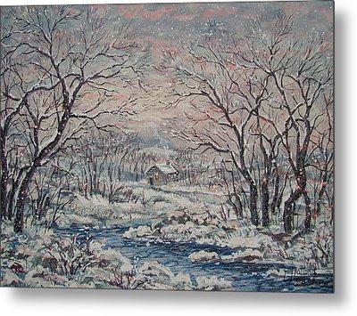 Wintery December Metal Print