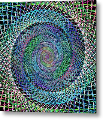 Wire Spiral Metal Print