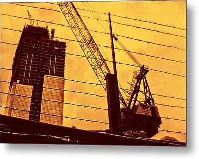 Wired Freedom Metal Print by Alex AG