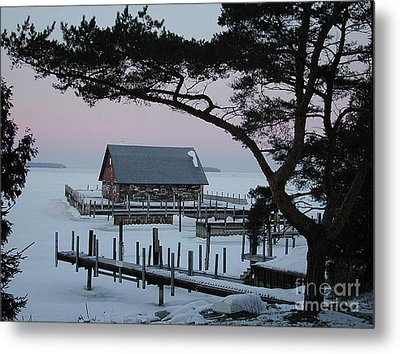 Wisconsin Boathouse Metal Print by Jim Wright