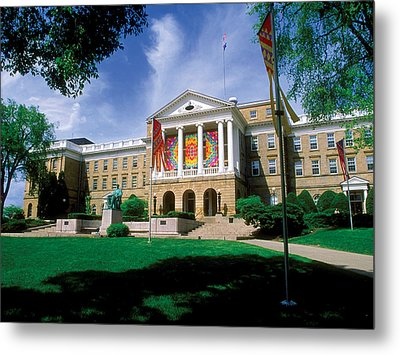 Wisconsin Bright Colors At Bascom Metal Print by UW Madison University Communications