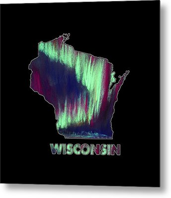 Wisconsin - Northern Lights - Aurora Hunters Metal Print by Anastasiya Malakhova