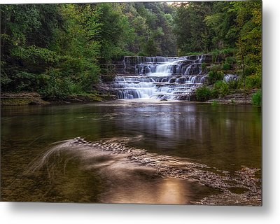 Metal Print featuring the photograph Wiscoy Falls by Mark Papke