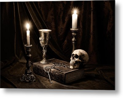 Wisdom Of The Ages Still Life Metal Print by Tom Mc Nemar