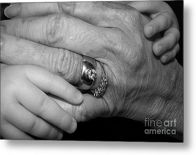 Wise Hands Metal Print