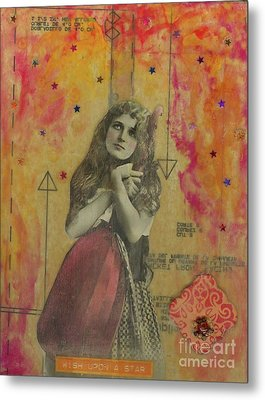Metal Print featuring the mixed media Wish Upon A Star by Desiree Paquette