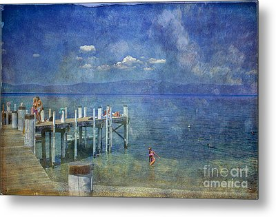 Metal Print featuring the photograph Wish You Were Here Chambers Landing Lake Tahoe Ca by David Zanzinger