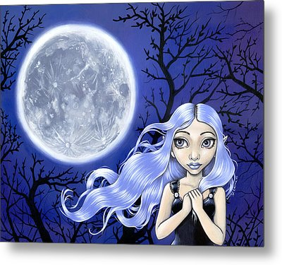 Wishing On The Moon Metal Print by Lindsey Cormier