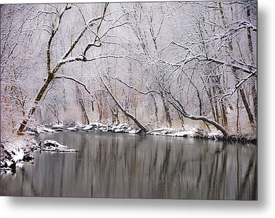 Wissahickon Creek In A Winter Wonderland Metal Print by Bill Cannon