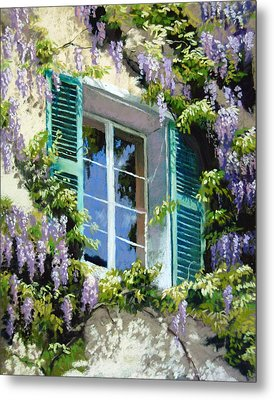 Wisteria In Provence Metal Print by Jeanne Rosier Smith