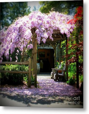 Metal Print featuring the photograph Wisteria by Leslie Hunziker