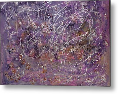 Wisteria Painting  Metal Print by Don  Wright