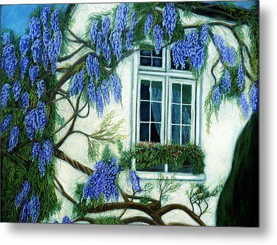 Wisteria Window Metal Print